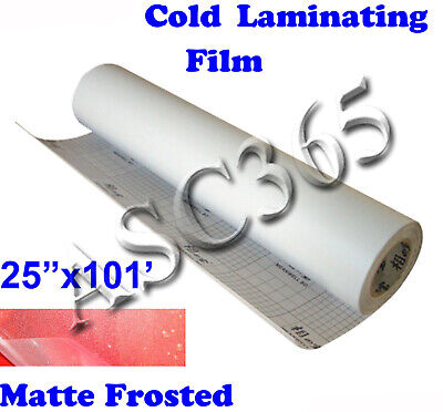 Us Free Shipping 0.69x31yd Mattefrosted Vinyl Cold Laminating Film Laminator