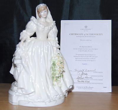 Coalport Diana Princess Of Wales Royal Bride Figurine The Signature Edition