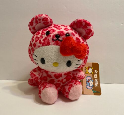 "sanrio hello kitty pink cheetah  kitty plush 5""H"
