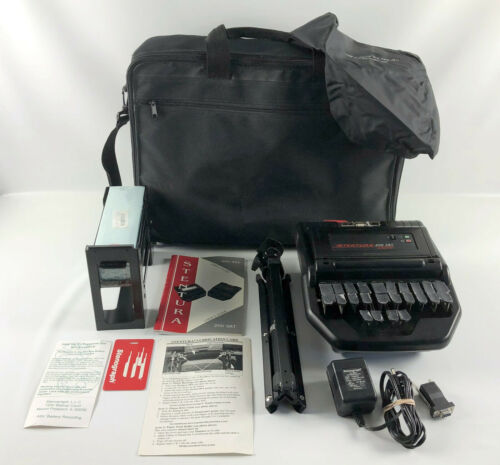 Stentura 400 SRT Electric Stenograph Bundle w/Tripod, Paper Tray & Travel Case