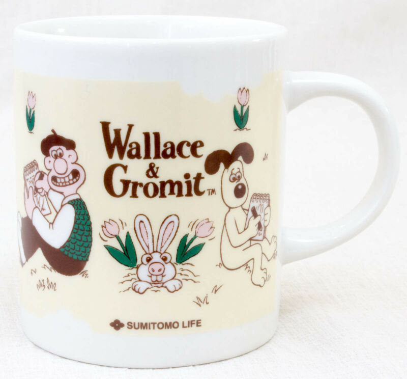 Wallace & Gromit MUG Sumitomo Life Novelty JAPAN Ardman ANIME