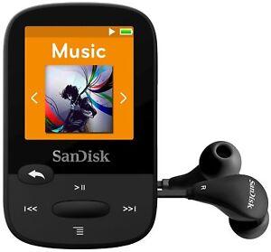 SanDisk Clip Sport Plus 16GB Bluetooth MP3 Player & FM Radio Black