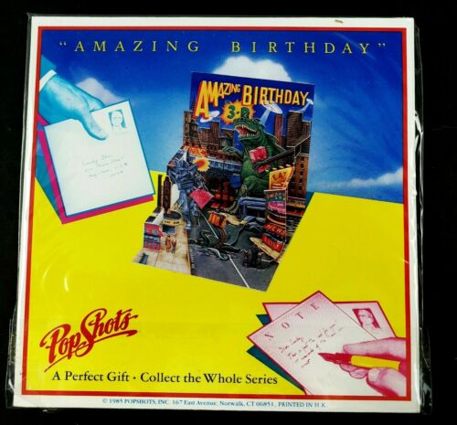 NEW Pop Shots PopShots 3D Pop Up Greeting Card Gift Amazing Birthday Godzilla
