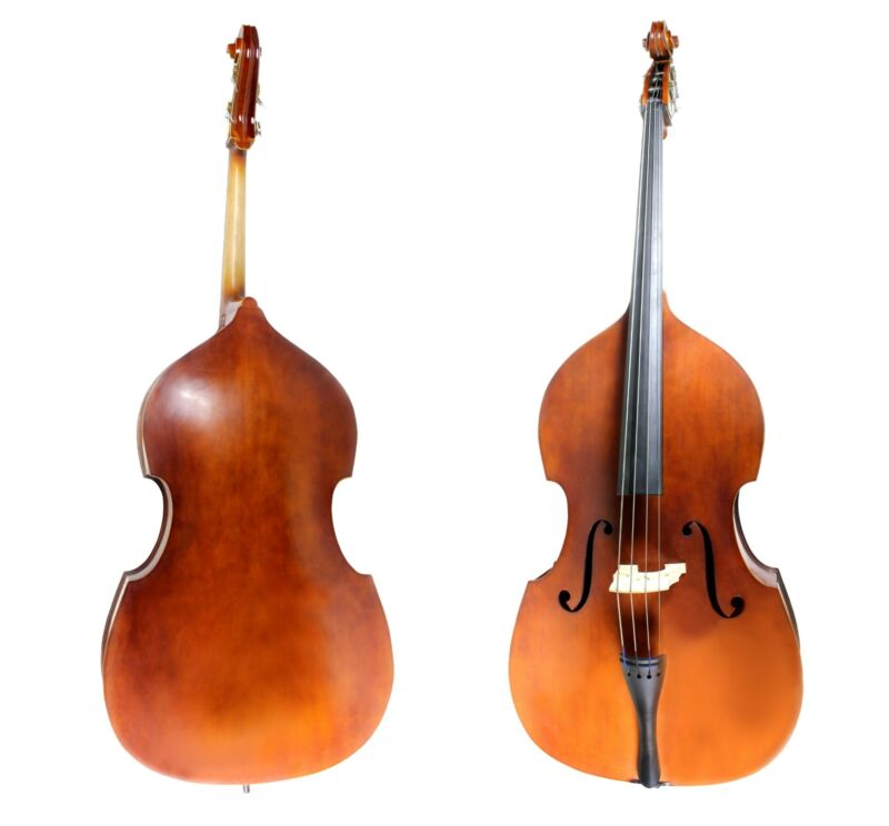 DOUBLE BASS  - 3/4 Acoustic Upright Bass + Bag & Bow New