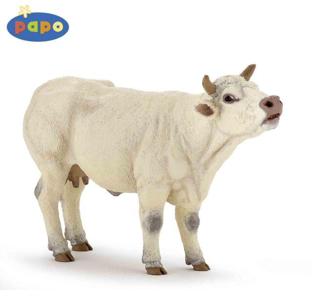 Muhende Charolais-Kuh 13 cm Bauernhoftiere Papo 51158