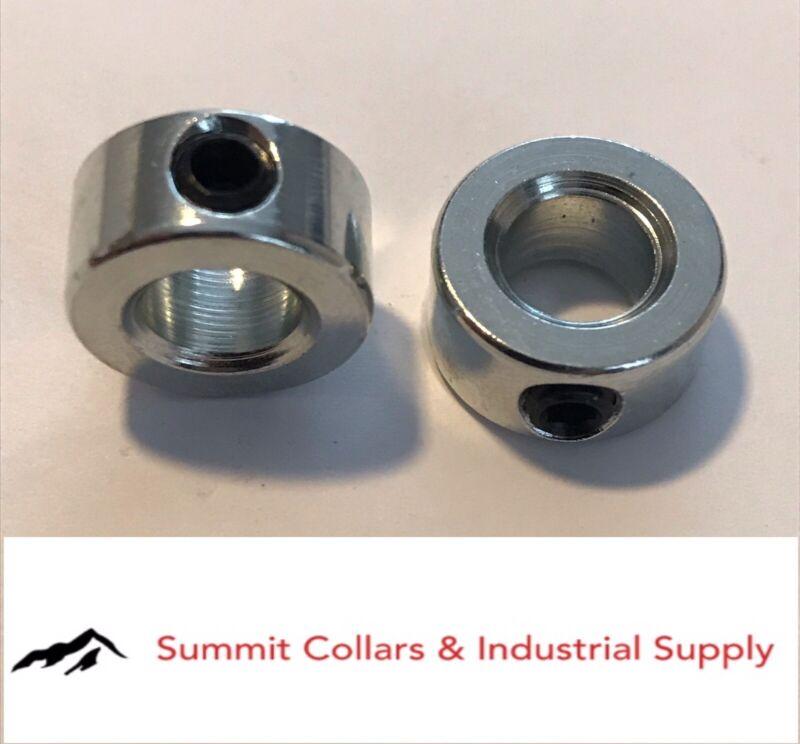 "7/8"" bore set shaft collar, zinc plated. (Qty 2) Free standard shipping!"