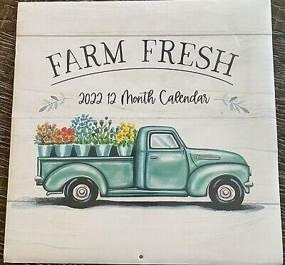 "2022 DOLLAR TREE WALL CALENDAR-11X11 ""FARM FRESH"" home, office, CRAFT, Decoupage"