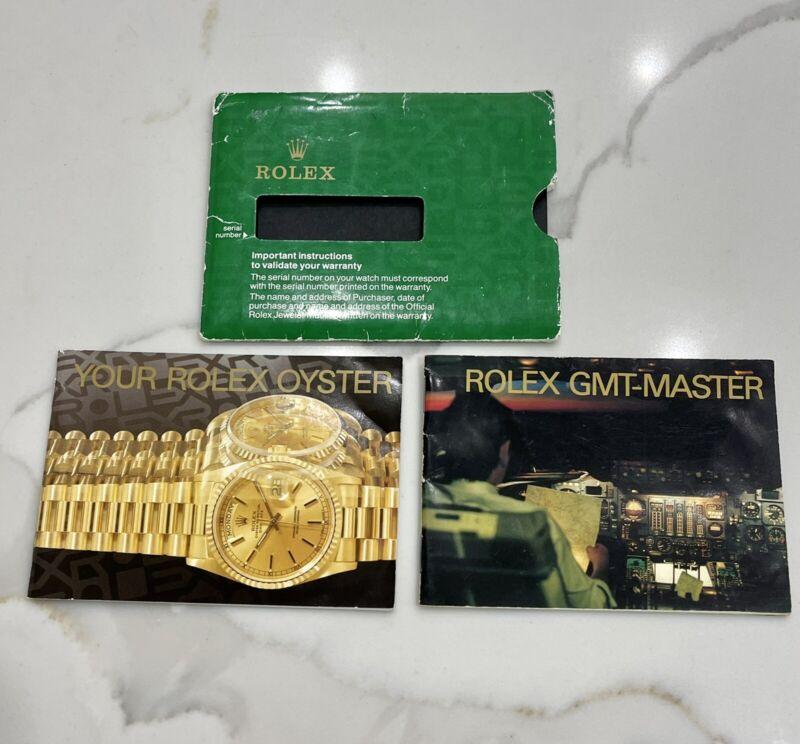 Authentic Vintage 1992 Rolex GMT Master II Booklet Set 16710 167188 167133 16700
