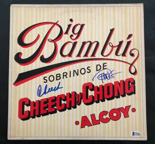 CHEECH AND CHONG BIG BAMBU ALCOY ALBUM VINYL LP AUTOGRAPH BECKETT BAS COA 21