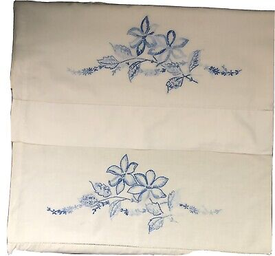 vintage embriodered pillow cases