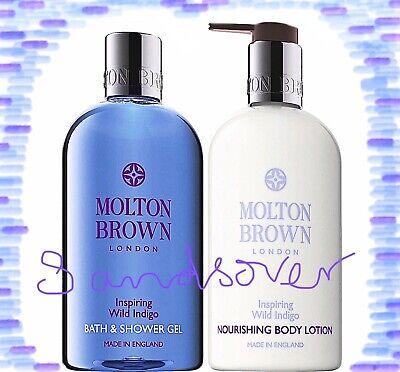 Molton Brown Inspiring Wild Indigo Bath & Shower Gel & Body lotion 300ml new