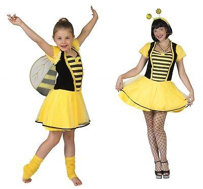 Biene Mädchen Kostüm (Kostüm Biene Bienenkostüm Bienchen Damen Mädchen Tierkostüm Karneval Fasching)