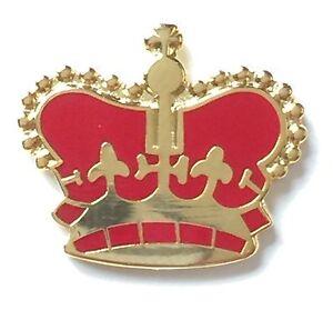 Small Royal Crown Monarchy Loyalist Badge Enamel Lapel Pin (Des1)