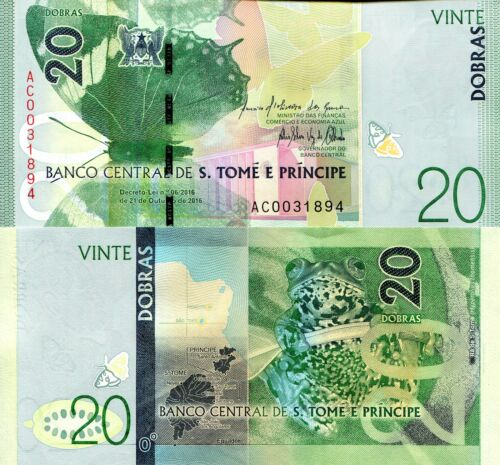 SAO TOME 20 Dobras Banknote World Paper Money Currency Pick p72a 2018 St. Thomas