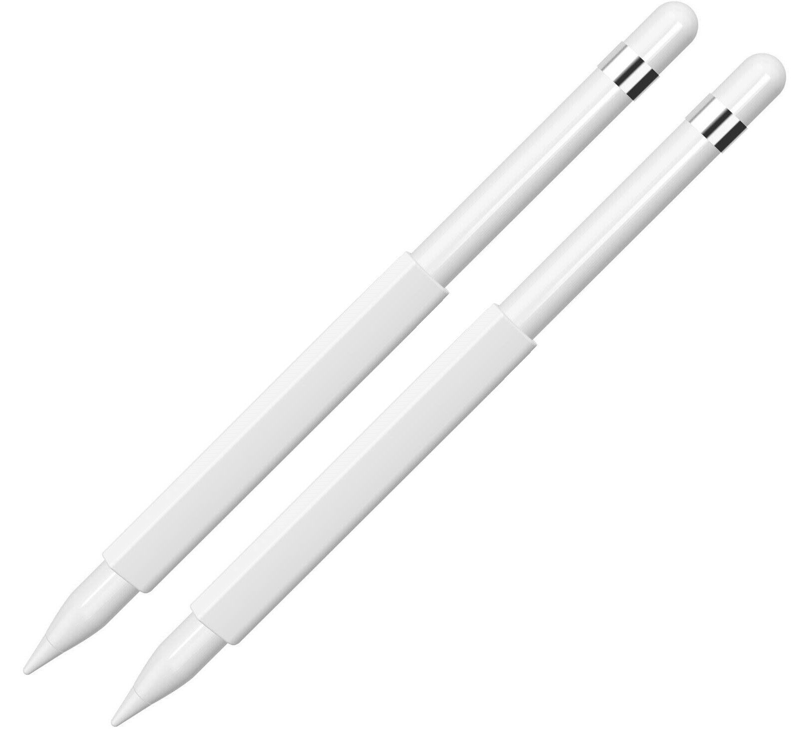 2- White Magnetic Sleeve/Grip Holder for The Apple Pencil Computers/Tablets & Networking