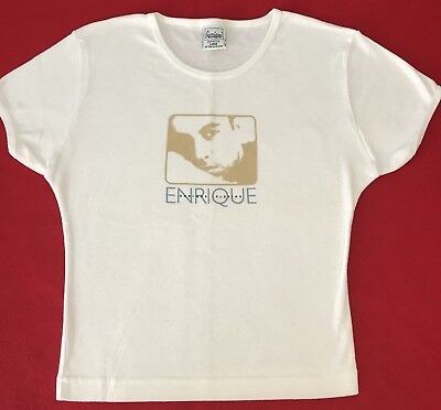 New ENRIQUE IGLESIAS BABYDOLL T SHIRT - LARGE