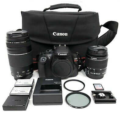 Canon EOS Rebel T6 18.0MP Digital SLR Camera Kit with Lenses 24505-1