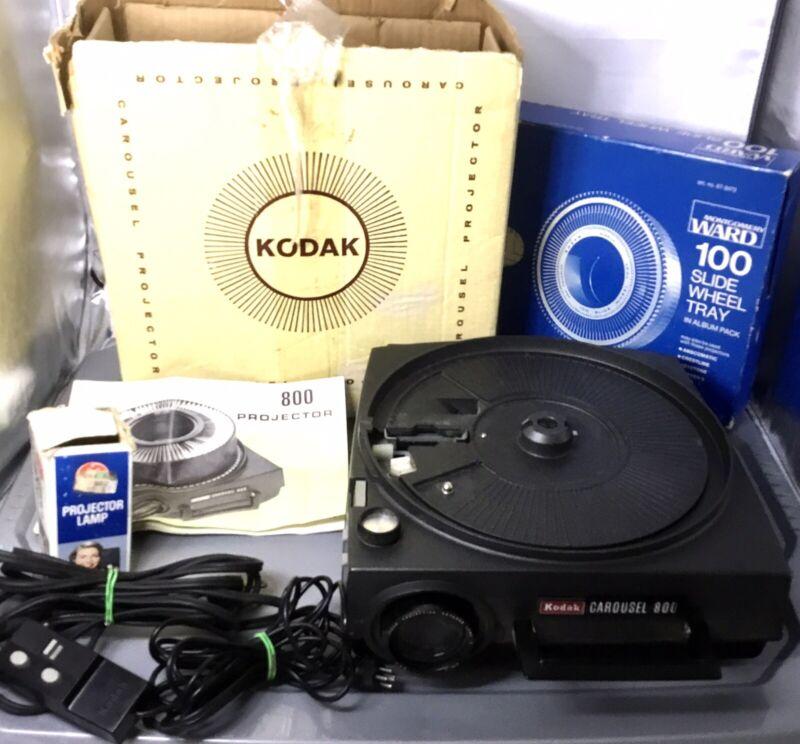 Vintage Kodak Carousel 800 Projector and Accessoies WORKS