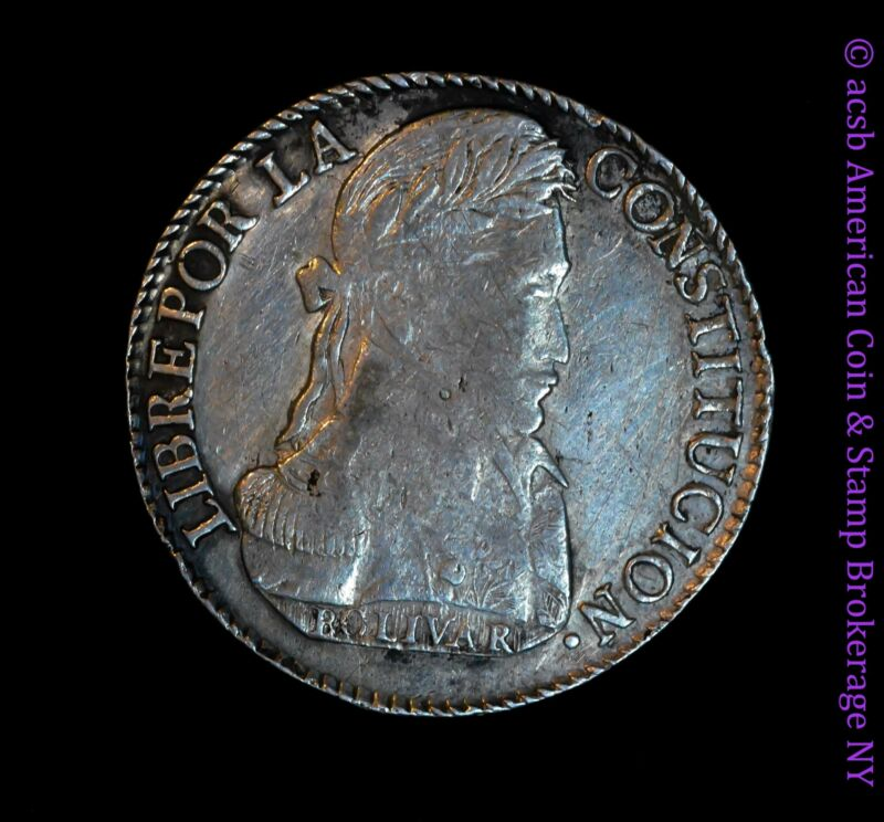Bolivia 8 Soles 1840 AU Details silver KM# 97 Flashy Lustrous White