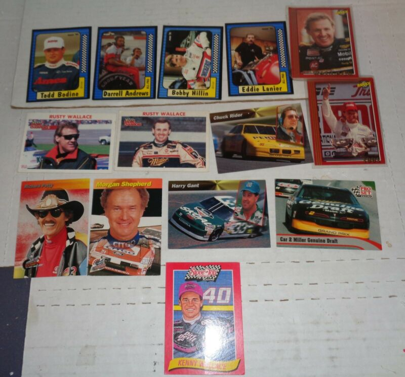 Lot of 14 NASCAR Misc. Trading Collector Cards Petty Gant Bodine R Wallace etc.