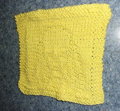 Brand New Hand Knit Cocker Spaniel Yellow Cotton Dish Cloth 4 Dog Rescue Charity