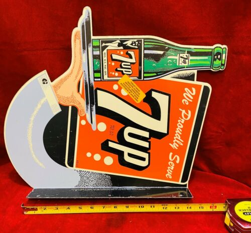 7 Up Seven Up Soda Advertising Flange Sign, very NICE