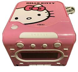 HELLO KITTY  AM/FM Stereo Alarm Clock Radio with Top Loading CD Player -A17