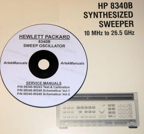 Hewlett Packard / HP 8340B Sweep Generator Service Manuals 3-vol good Schematics