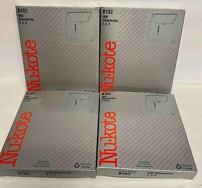 A Lot 4 Nukote B192 Ibm Wheelwriter Ribbon 3 5 6