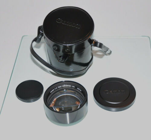 Canon C-8 Tele Converter 1.6x  / 48mm screw mount with caps and case  ,,
