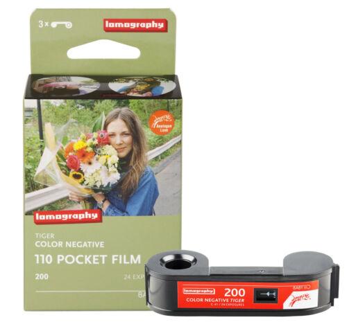 3 Roll Lomography LOMO 200 ISO 24exp Tiger Color Netgative 110 Pocket Film - US