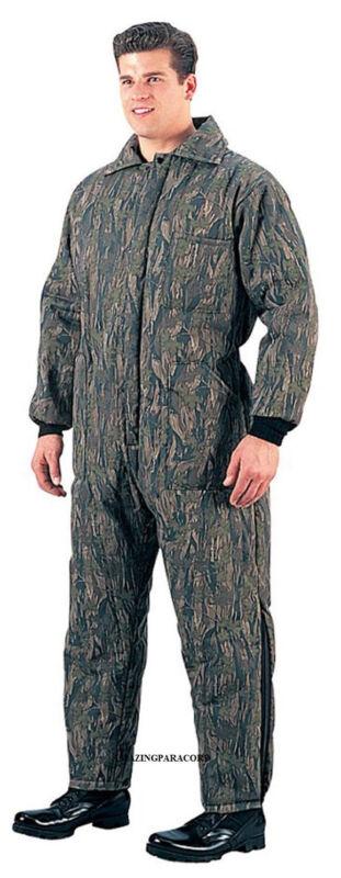 Military Insulated Smokey Branch Camo Coveralls Heavy Winter Overall Rothco 7035