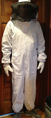 Full Bee Keeping Suit, Heavy Duty Small Size, Round Hood & Free Shipping