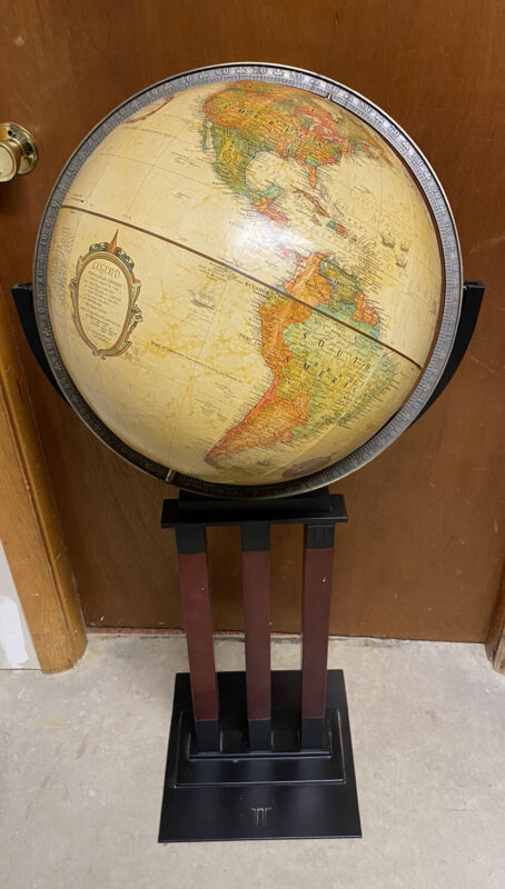Replogle 16 Inch World Classic Series Globe With Wood & Metal Floor Stand