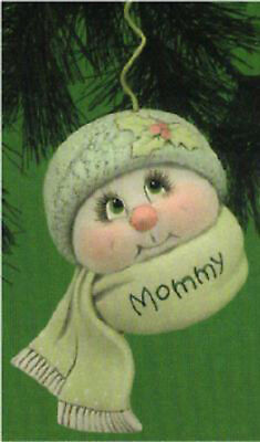 """Ceramic Bisque Ready to Paint Parent Sno-Kin Ornament 5"""" tall~FREE SHIPPING ~"""