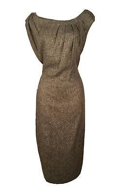 Women's PORTS 1961 Brown Herringbone Sleeveless Dress Size 4