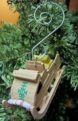 Unique Frozen Kristoff  Sled Candy Cane Christmas Ornament Decoration