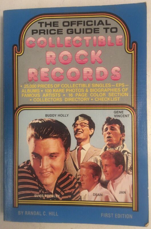 The Official Price Guide To Collectible Rock Records 1997 Softback Randal C Hill