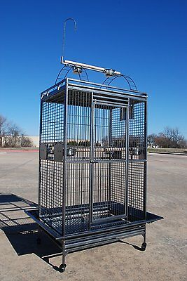 """Extra Large Parrot Macaw Cockatoo African Grey AmazonBird Cage 36""""Wx28""""x68""""H 248"""