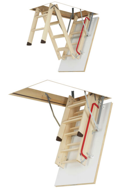 LWK PLUS Fakro 50x111 Loft ladder WHITE THERMO HATCH