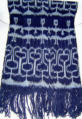 Fair Trade Table Runner/Wall Hanging Ikat/Jaspe Handwoven Guatemala 100% Cotton