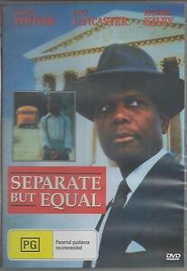 SEPARATE BUT EQUAL SIDNEY POITIER & BURT LANCASTER NEW ALL REGION DVD