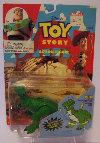 Toy Story Rex Action Figure Disney  Thinkway Glow in Dark  Moving Leg Jaw 1995