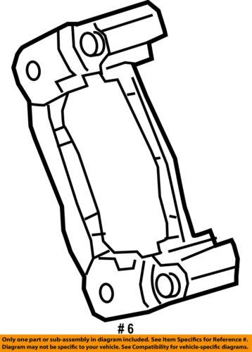 Chrysler Oem 17 18 Pacifica Brake Rear Adapter 68325008aa