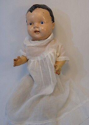 """Antique Primitive Baby Doll Shoulder Head Cloth Body 16"""""""