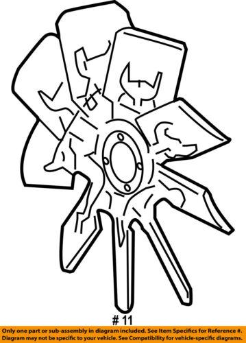 Ford Oem Radiator Cooling Fan Blade 5l1z8600ab