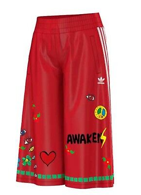 Adidas X Pharrell Williams Artist Print Culottes Summer Cropped Women's Pants