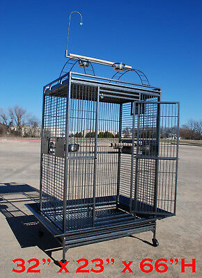 Extra Large Bird Cage For Parrot Macaw Cockatoo African Grey Q27-3223 Black Vein