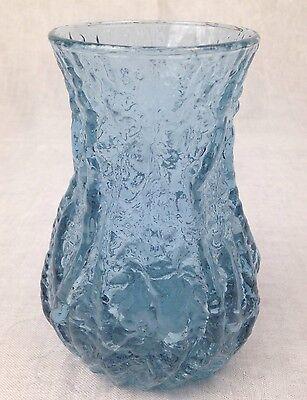 Vase Glas Rock-Kristall Ingridhütte 60. Jahre Farbe variiert nach Lichteinfall ()