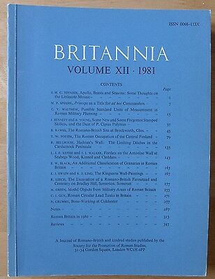 Britannia: a Journal of romano-british and kindred studies. Volume XII, 1981